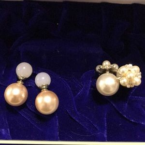 Imitation pearls pieces sets of 2